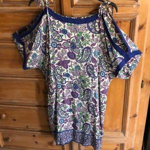 Lucky Brand Washed Silk handkerchief dress